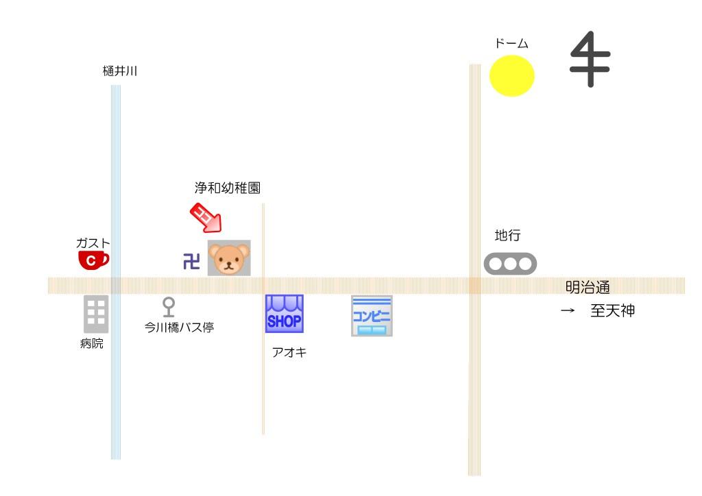 幼稚園の周辺地図